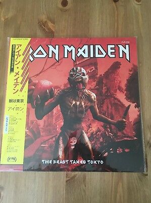 Iron Maiden - The Beast Takes Tokyo Double Pic Disc Rare Vinyl Heavy Metal