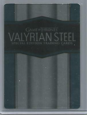 Game of Thrones Season 6 - 'Valyrian Steel' Case Card CT1