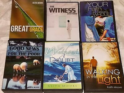 Lot of 6 Keith Moore Christian Ministry CD Sets Good News For The Poor, 5 More