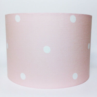 Pink Spotted Large Fabric Light / Pendant Ceiling Shade - Nursery Lighting