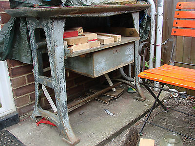 vintage industrial cast iron legs table base