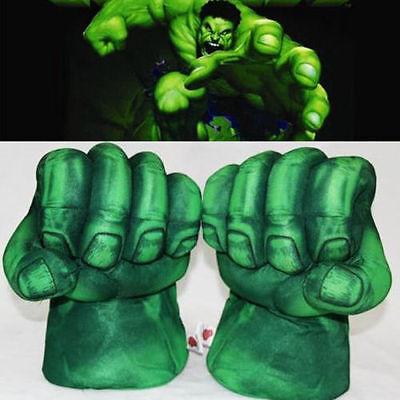 1 Pair Incredible Hulk Smash Hands Plush Punching Boxing fists Gloves Cosplay