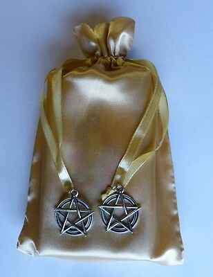 Pentacle Star Gold Tarot Bag