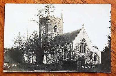 Early Photo Postcard Rp Lincolnshire Riby Church Unused