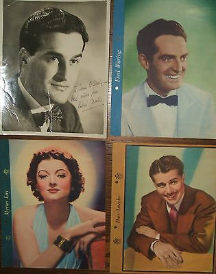 Lot of Movie Memorabilia Myrna Loy Christopher Plummer Fred MacMurray Don Ameche