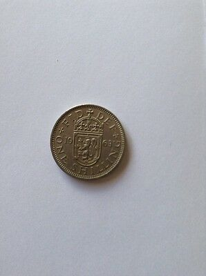 British One Shilling Coin 1963