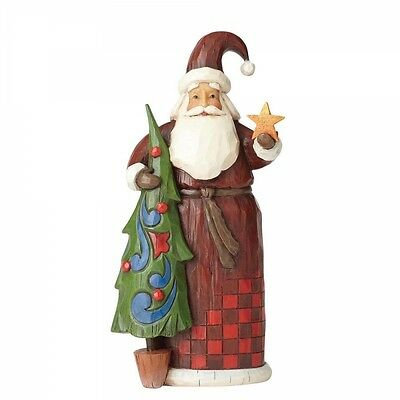 Jim Shore - Heartwood Creek - Santa With Tree And Star - 4058765 - New  In Box