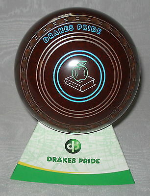NEW  Lawn Bowls Drakes Pride Professional  Speckled brown  Size 1 H 26 stamp