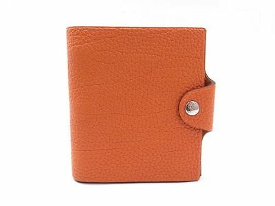 Couverture Agenda Hermes Ulysse Mini Bloc Note Cuir Togo Orange Diary Cover 205€