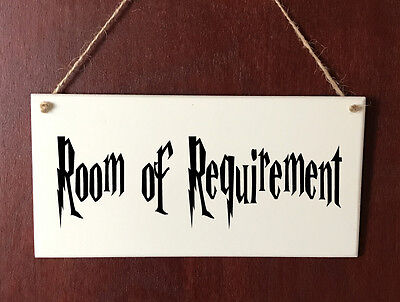 Room of Requirement DELUXE Plaque Sign Gift - Harry Potter Room House Present