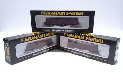 3X Graham Farish 373-600 46 Tonne VGA Sliding Wall Van EWS  N Gauge