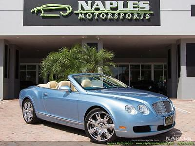 2008 Bentley Continental GT GTC Convertible 2008 Bentley Continental GT GTC Convertible Automatic 2-Door Convertible