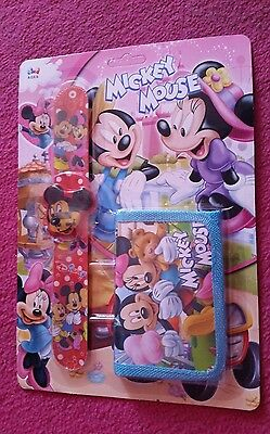 Kids snap/slap watch & wallet Gift set (MICKEY MOUSE)