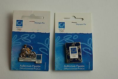 2004 Athens Greece Olympic Metal Pin Badge's, Memorabilia, Official Collectable
