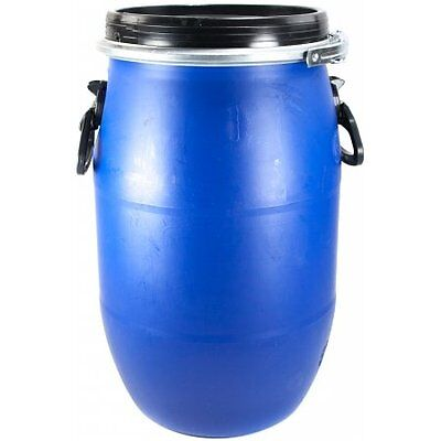 30L Litre Ltr Open Top Plastic Storage Drum Barrel Keg With Lid and Handles