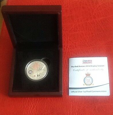 2016 Red Arrows Display Season Official 999 Silver 1oz Proof Coin Ltd 601/2016
