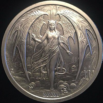Temptation of the Succubus, 2oz .999 Fine Silver Round-New Release-Limited Mint