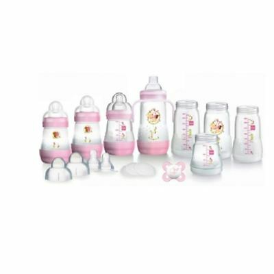MAM Anti-Colic Self-Sterilising Bottle Starter Set - Pink 1 2 3 6 12 Packs