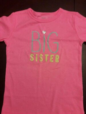 NWOT Girls Size 5T Big Sister tee shirt Carters