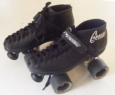 Black Mens Riedell Carrera Speed Roller Derby Skates - Sure Grip - Size 6 - 95a