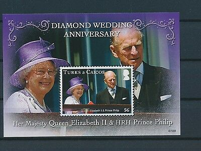 LG68113 Turks & Caicos queen Elizabeth II good sheet MNH