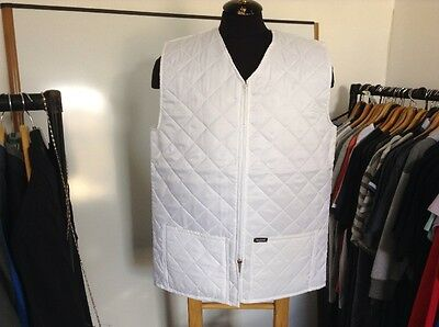Seahawk Ladies White Quilted Body warmer Size Large New