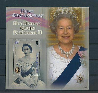 LG68115 Turks & Caicos queen Elizabeth II good sheet MNH