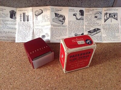 Vintage Paterson Slide-Viewer & Container