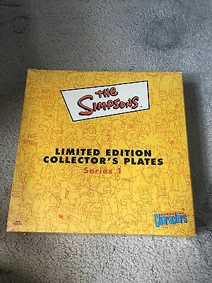 The Simpsons Limited Edition Collectors Plate