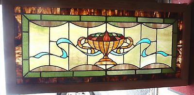 Fruit bowl antique stained glass window