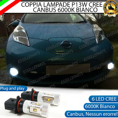 2x LAMPADE P13W 5 LED CREE  DRL LUCI DIURNE NISSAN LEAF CANBUS BIANCO