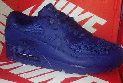 Brand New Mens Size 8 Nike Air Max 90 Trainers Blue