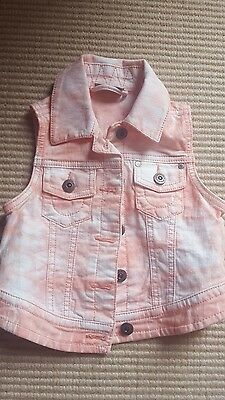 NEXT summer denium sleeveless jacket age 3-4 years