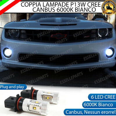 2x LAMPADE P13W 5 LED CREE  DRL LUCI DIURNE CHEVROLET CAMARO CANBUS BIANCO
