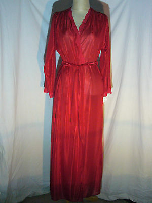 Vintage Molyclaire Elegant Red Robe Women Size Large