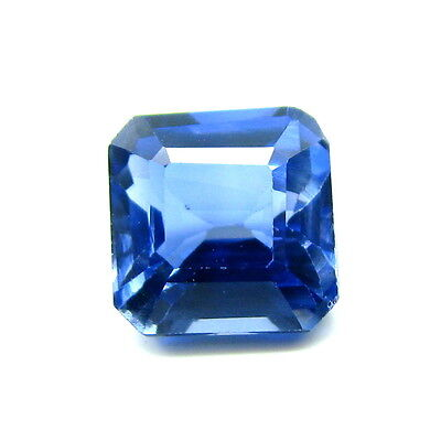 7.8Ct Synthetic Blue Sapphire 10mmX7mm Emerald Cut Faceted Loose Gemstone