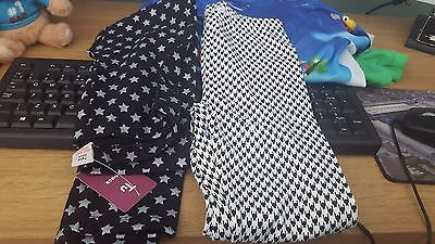 Girls Leggings x 2 Age 7-8 both new 1 with tag