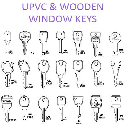UPVC / Wooden Window Locks / Handle Key Spare Keys -Cotswold-WMS-ERA *ALL TYPES*