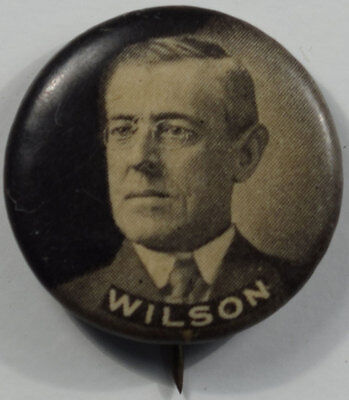 """1912 Woodrow Wilson 7/8"""" Picture Celluloid Campaign Button Exc/nr-Mint!"""
