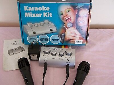 Karaoke Mixer Kit, Converts CD/DVD Player to Music System - Includes Microphones