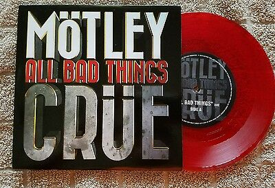 Motley Crue - All Bad Things Sex - Red Vinyl 7 inch 45 - From VIP Meet & Greet