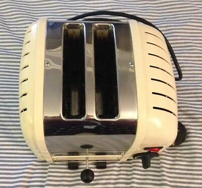 Dualit 2 slice  toaster with stainless steel and cream finish