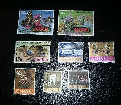 POSTAGE STAMPS ZAMBIA 1960's / 1970's