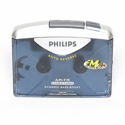 Philips AQ6598 Personal Stereo Cassette Player Walkman with FM AM Radio