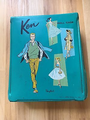 Vintage 1961 Ken Doll Case With Clothes