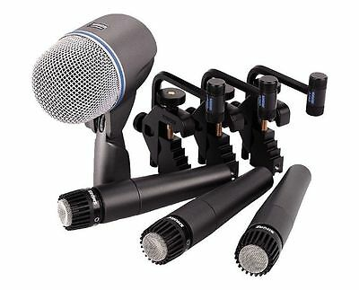 Shure DMK57-52 Drum Microphone Kit with Mounts (1) Beta 52A & (3) SM57