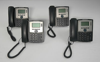 Lot of 4 - Cisco SPA303 3-Line VOIP IP Office Phone SPA303-G1 with Stand *No A/C