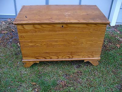 Old 1800's Grain Painted Blanket Storage Chest