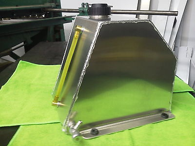 8 Qt. Go Kart, Motor Cycle Snowmobile Aluminum Tank With Fuel Site Bottom Outlet
