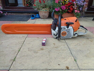 Stihl Ms441 Professional Chainsaw Just Serviced 25 Inch Bar And Chain Ms460